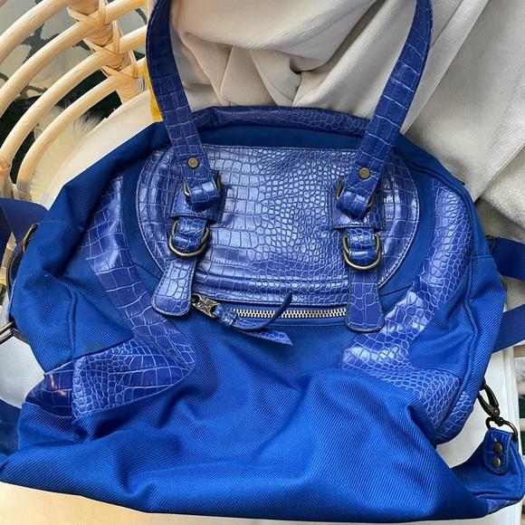 LULULEMON   Vintage Blue Lululemon Faux Croc Bag